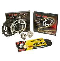 """Σετ Γρανάζια-Αλυσίδα κινήσεως DID-JT για KTM Duke 390 '15-'16 """"Μαύρη Αλυσίδα O 'ring (V)"""""""