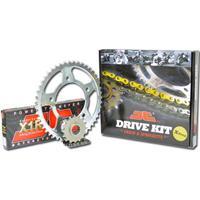 """Σετ Γρανάζια-Αλυσίδα κινήσεως JT για Kawasaki KLE 250 Anhelo """"Μαύρη Αλυσίδα X 'ring (X1R)"""""""